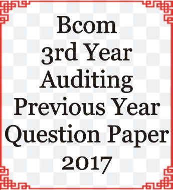 Bcom 3rd Year Question Paper of Ccs University Meerut